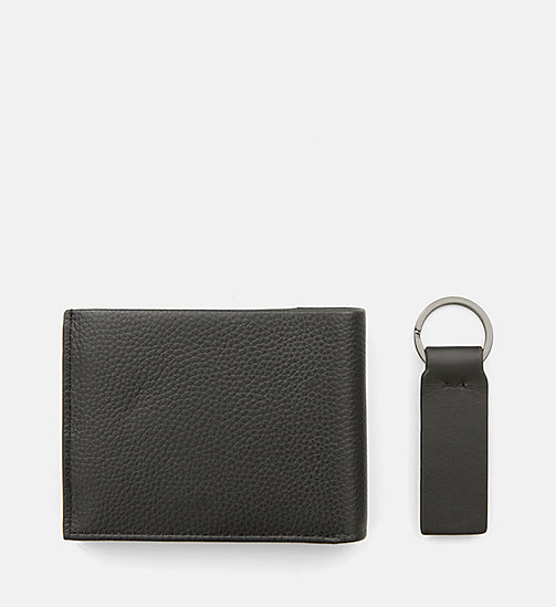 CALVINKLEIN Leather Wallet and Keyring Gift Box - BLACK - CALVIN KLEIN FOR HIM - detail image 1