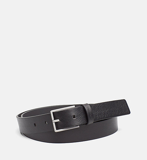 CALVINKLEIN Leather Belt - BLACK - CALVIN KLEIN BAGS & ACCESSORIES - main image