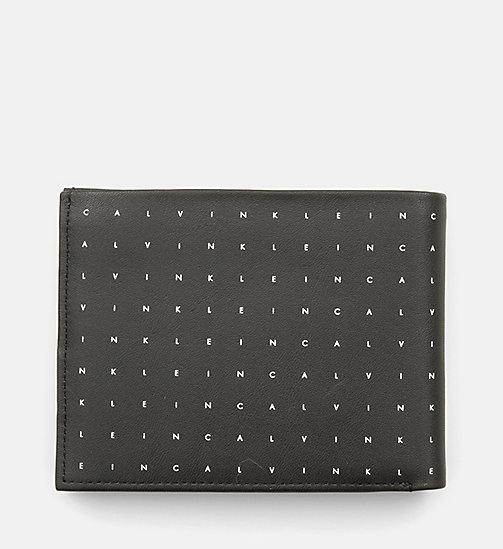 CALVINKLEIN Leather Bifold Wallet - BLACK - CALVIN KLEIN BAGS & ACCESSORIES - detail image 1