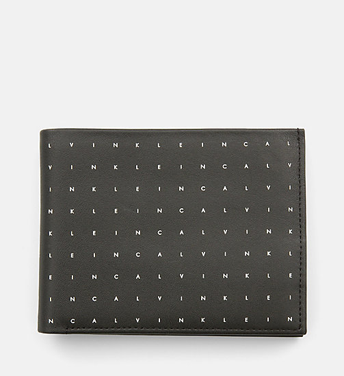 CALVINKLEIN Leather Bifold Wallet - BLACK - CALVIN KLEIN NEW IN - main image