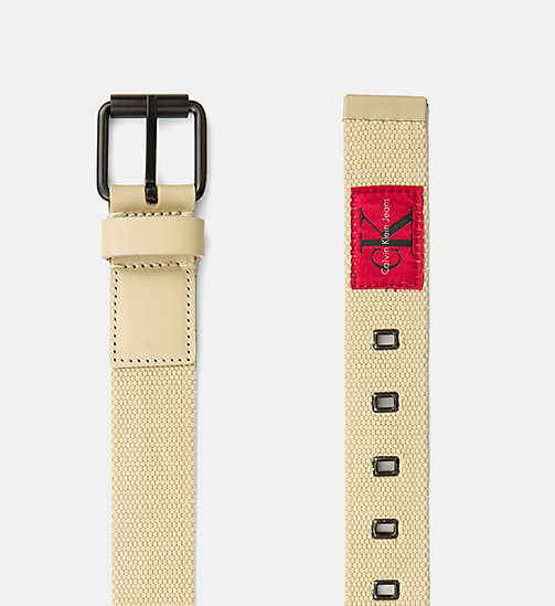 CALVIN KLEIN JEANS Webbing Roller Belt - SAFARI - CALVIN KLEIN JEANS SHOES & ACCESSORIES - detail image 1