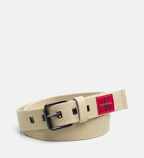 CALVIN KLEIN JEANS Webbing Roller Belt - SAFARI - CALVIN KLEIN JEANS SHOES & ACCESSORIES - main image