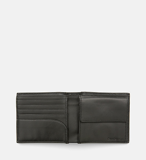 CALVIN KLEIN JEANS Leather Bifold Wallet - BLACK - CALVIN KLEIN JEANS NEW IN - detail image 1
