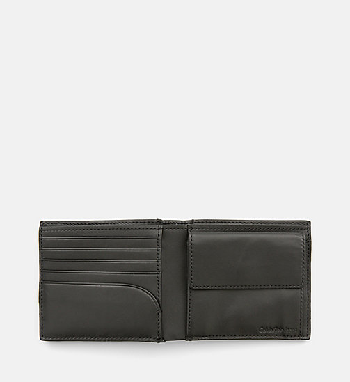 CALVIN KLEIN JEANS Leather Bifold Wallet - BLACK - CALVIN KLEIN JEANS BACK IN BUSINESS - detail image 1