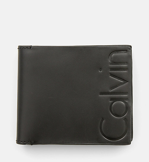 CALVIN KLEIN JEANS Leather Bifold Wallet - BLACK -  BACK IN BUSINESS - main image