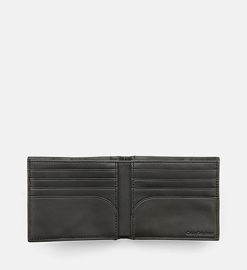 CALVIN KLEIN JEANS Leather Bifold Wallet - BLACK - CALVIN KLEIN JEANS SHOES & ACCESSORIES - detail image 1