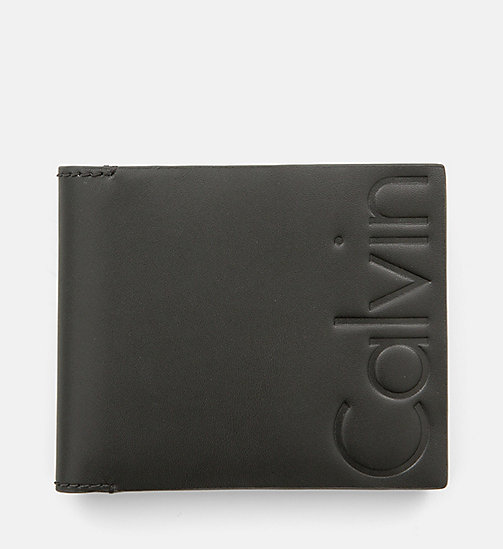 CALVIN KLEIN JEANS Leather Bifold Wallet - BLACK - CALVIN KLEIN JEANS WALLETS & SMALL ACCESSORIES - main image