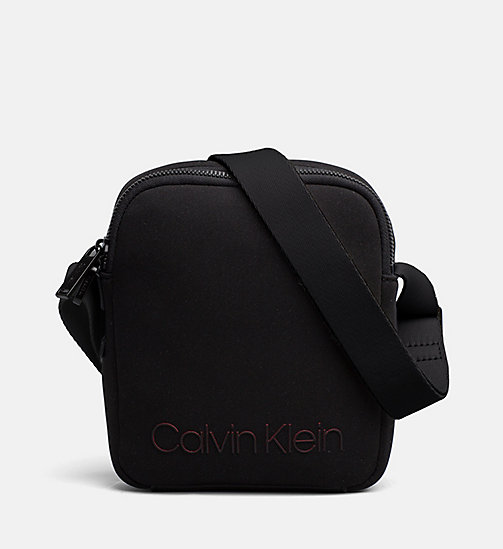 CALVINKLEIN Neoprene Mini Reporter Bag - BLACK - CALVIN KLEIN SHOES & ACCESSORIES - main image