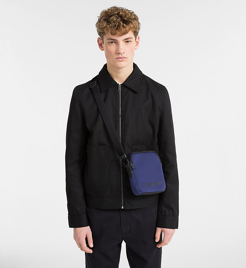 CALVINKLEIN Neoprene Mini Reporter Bag - BLACK - CALVIN KLEIN MEN - detail image 1