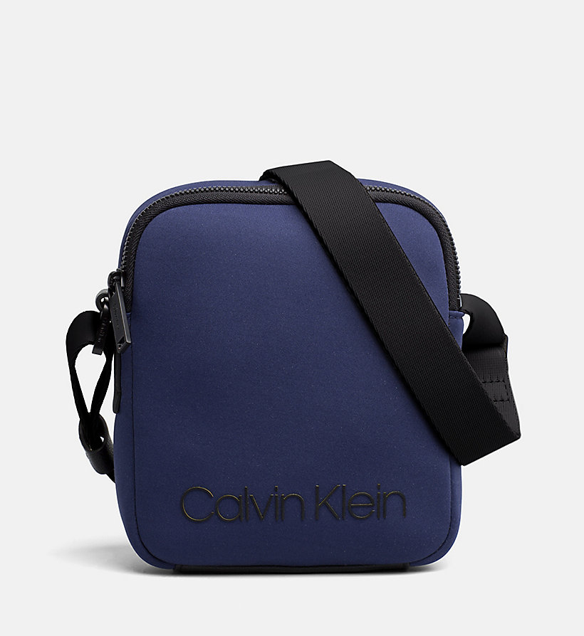 CALVIN KLEIN Neoprene Mini Reporter Bag - BLACK - CALVIN KLEIN MEN - main image