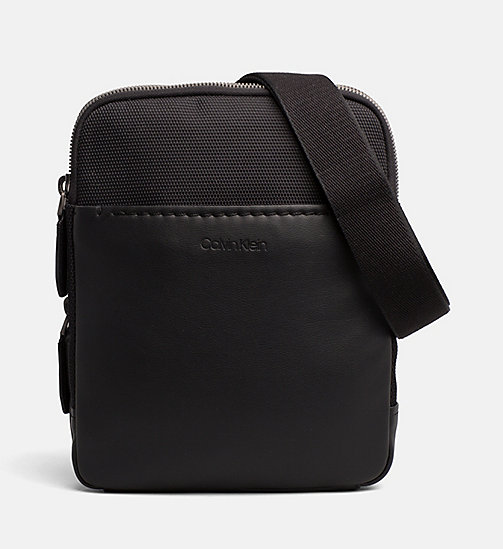 CALVIN KLEIN Flat Cross Body Bag - BLACK - CALVIN KLEIN BAGS - main image