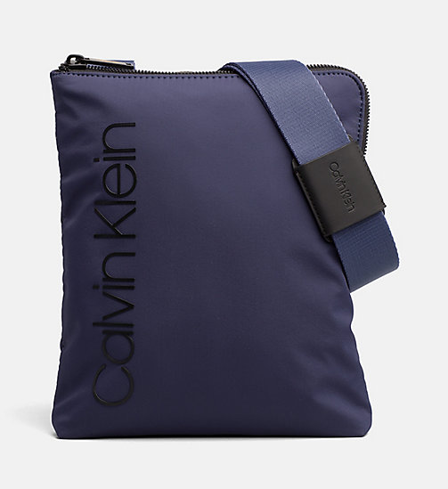 CALVIN KLEIN Flat Cross Body Bag - NAVY - CALVIN KLEIN CROSSOVER BAGS - main image