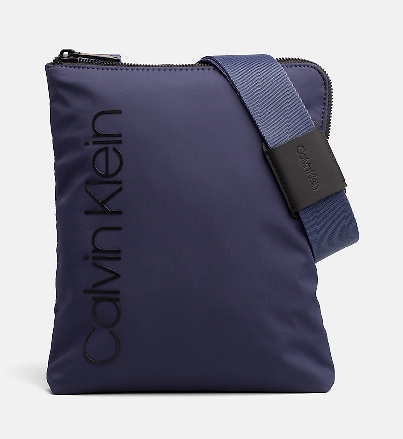 CALVIN KLEIN Flat Cross Body Bag - BLACK - CALVIN KLEIN MEN - main image
