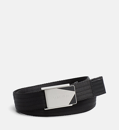 CALVINKLEIN Webbing Plaque Belt - BLACK - CALVIN KLEIN GET SMART - main image