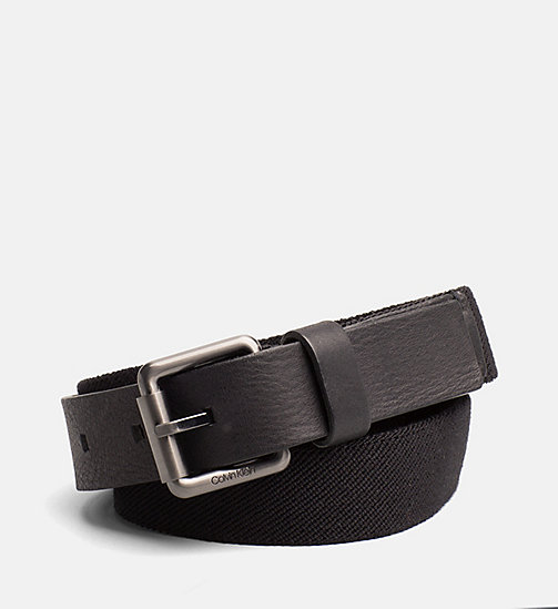 CALVINKLEIN Webbing Belt - BLACK - CALVIN KLEIN SHOES & ACCESSORIES - main image