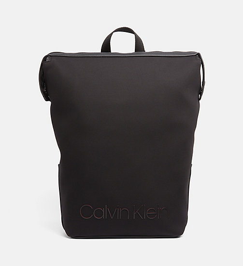 CALVINKLEIN Neoprene Backpack - BLACK - CALVIN KLEIN BACKPACKS - main image