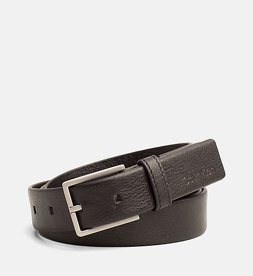 CALVINKLEIN Leather Belt - BLACK -  SHOES & ACCESSORIES - main image