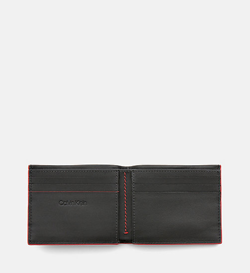 CALVINKLEIN Leather Slimfold Wallet - BLACK - CALVIN KLEIN NEW IN - detail image 1
