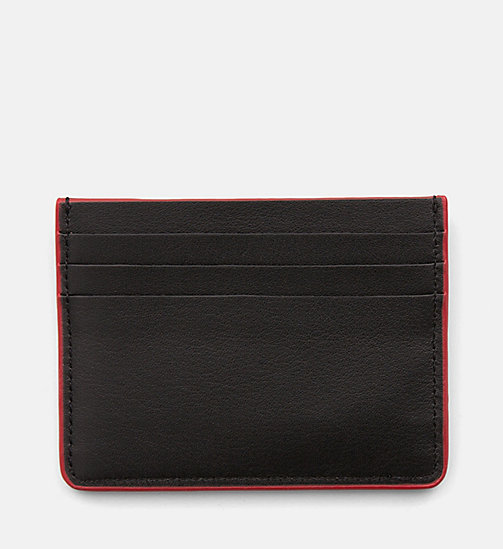 CALVINKLEIN Leather Cardholder - BLACK - CALVIN KLEIN NEW IN - detail image 1