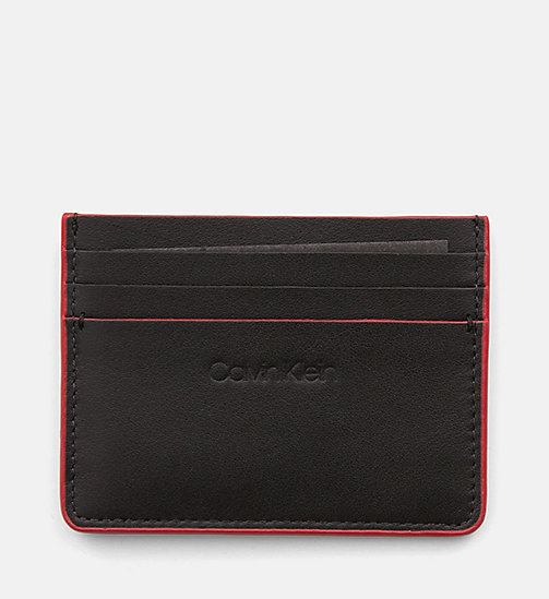 CALVINKLEIN Leather Cardholder - BLACK - CALVIN KLEIN NEW IN - main image
