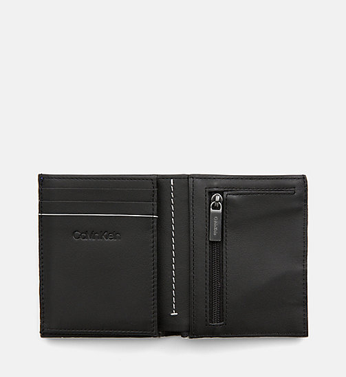 CALVINKLEIN Leather Wallet - NAVY - CALVIN KLEIN WALLETS & SMALL ACCESSORIES - detail image 1
