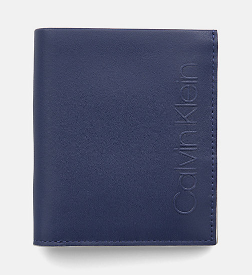 CALVINKLEIN Leather Wallet - NAVY - CALVIN KLEIN NEW IN - main image