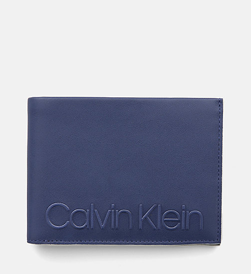 CALVINKLEIN Leather Wallet - NAVY - CALVIN KLEIN WALLETS & SMALL ACCESSORIES - main image
