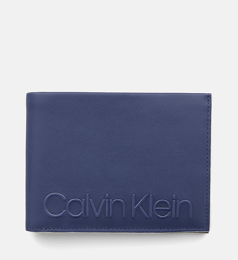 CALVINKLEIN Leather Wallet - BLACK - CALVIN KLEIN MEN - main image