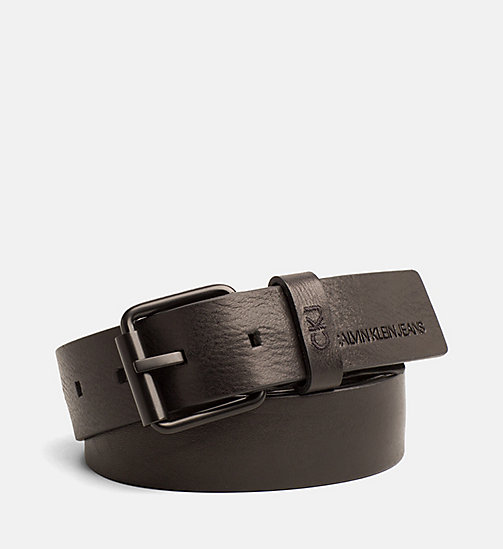 CALVIN KLEIN JEANS Leather Belt - BLACK - CALVIN KLEIN JEANS NEW IN - main image