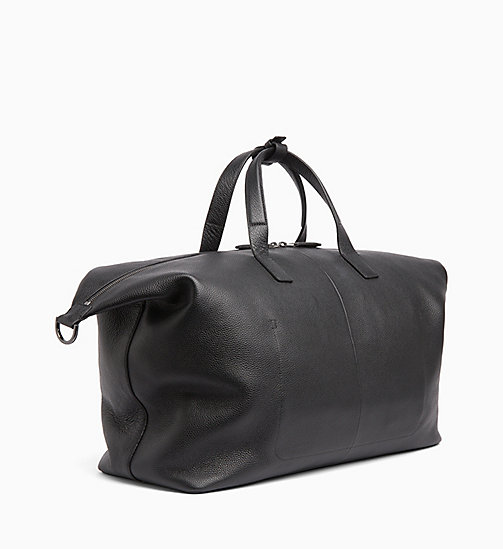 CALVINKLEIN Leather Weekend Bag - BLACK -  CALVIN KLEIN MENSWEAR - detail image 1