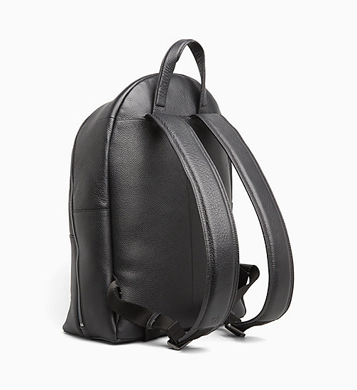 CALVIN KLEIN Leather Round Backpack - BLACK - CALVIN KLEIN CALVIN KLEIN MENSWEAR - detail image 1