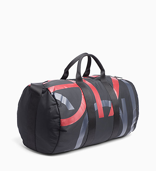 CALVINKLEIN Logo Cylinder Duffle Bag - BLACK/NIGHTSCAPE/ROUGE - CALVIN KLEIN WEEKEND BAGS - detail image 1
