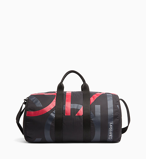 CALVINKLEIN Logo Cylinder Duffle Bag - BLACK/NIGHTSCAPE/ROUGE - CALVIN KLEIN WEEKEND BAGS - main image
