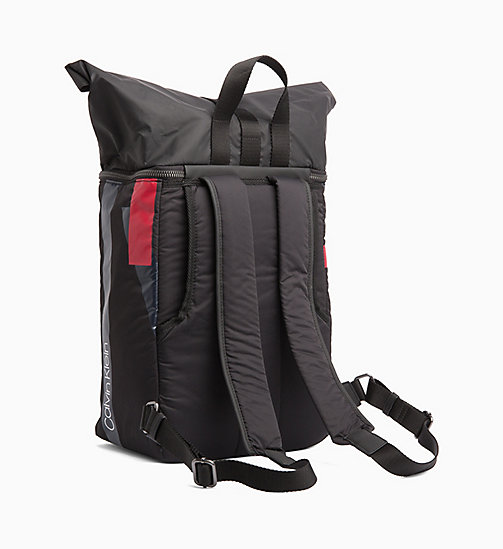 CALVINKLEIN Roll Top Backpack - BLACK/NIGHTSCAPE/ROUGE - CALVIN KLEIN BACKPACKS - detail image 1