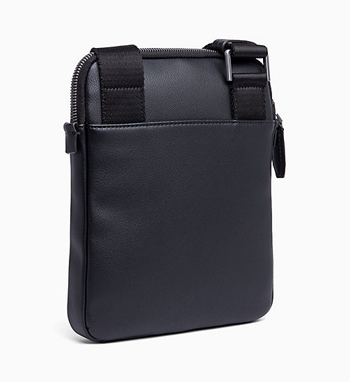CALVIN KLEIN Flat iPad Cross Body Bag - BLACK - CALVIN KLEIN REPORTER BAGS - detail image 1