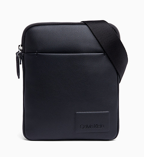CALVIN KLEIN Flat iPad Cross Body Bag - BLACK - CALVIN KLEIN REPORTER BAGS - main image