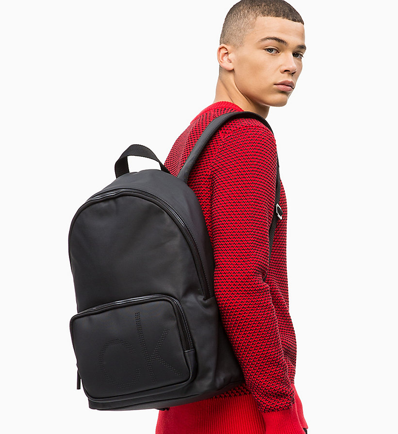 CALVINKLEIN Coated Canvas Round Backpack - NIGHTSCAPE - CALVIN KLEIN MEN - detail image 3
