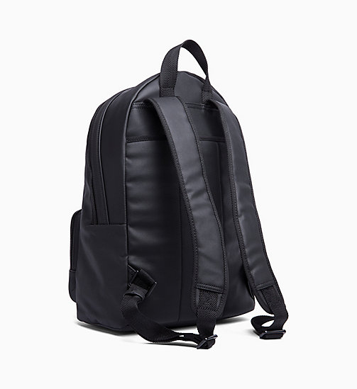 CALVIN KLEIN Coated Canvas Round Backpack - BLACK - CALVIN KLEIN BACKPACKS - detail image 1