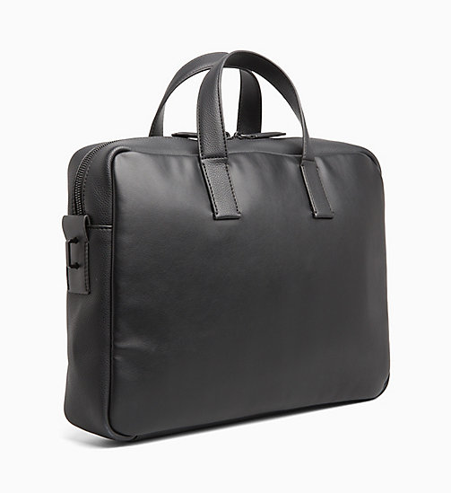 CALVINKLEIN Slim Laptop Bag - BLACK - CALVIN KLEIN LAPTOP BAGS - detail image 1