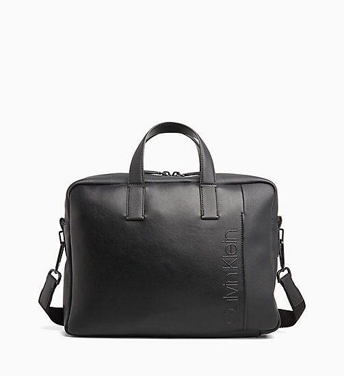 CALVINKLEIN Slim Laptop Bag - BLACK - CALVIN KLEIN LAPTOP BAGS - main image