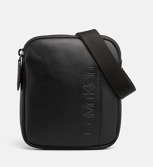 CALVINKLEIN Mini Flat Cross Body Bag - BLACK - CALVIN KLEIN CROSSOVER BAGS - main image