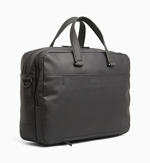 CALVINKLEIN Coated Canvas Laptop Bag - BLACK - CALVIN KLEIN BAGS - detail image 1
