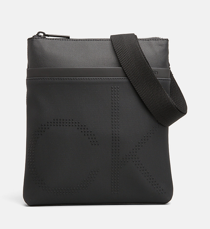 CALVINKLEIN Coated Canvas Flat Cross Body Bag - NIGHTSCAPE - CALVIN KLEIN MEN - main image