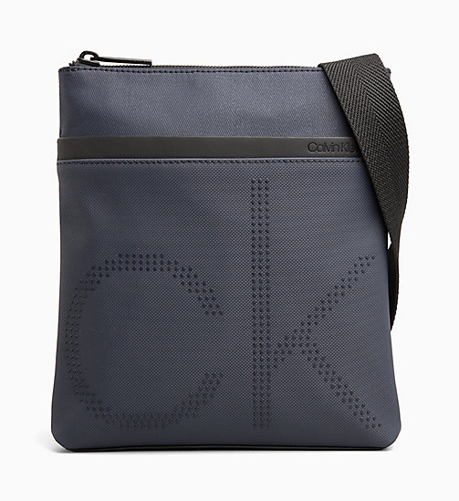 CALVIN KLEIN Coated Canvas Flat Cross Body Bag - NIGHTSCAPE - CALVIN KLEIN BAGS - main image