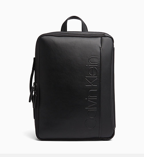 CALVINKLEIN Convertible Backpack - BLACK - CALVIN KLEIN BACKPACKS - main image