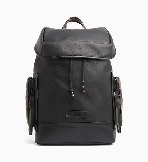 CALVINKLEIN Flap Backpack - BLACK - CALVIN KLEIN LOGO SHOP - main image