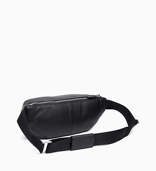 CALVIN KLEIN Leather Bum Bag - BLACK - CALVIN KLEIN BOLD GRAPHICS - detail image 1