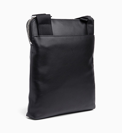 CALVINKLEIN Flache Crossover-Bag aus Leder - BLACK - CALVIN KLEIN NEW IN - main image 1
