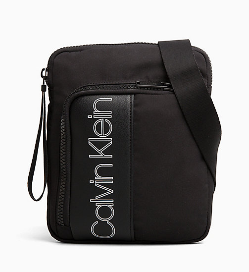 CALVIN KLEIN Flat Cross Body Bag - BLACK - CALVIN KLEIN ALL GIFTS - main image
