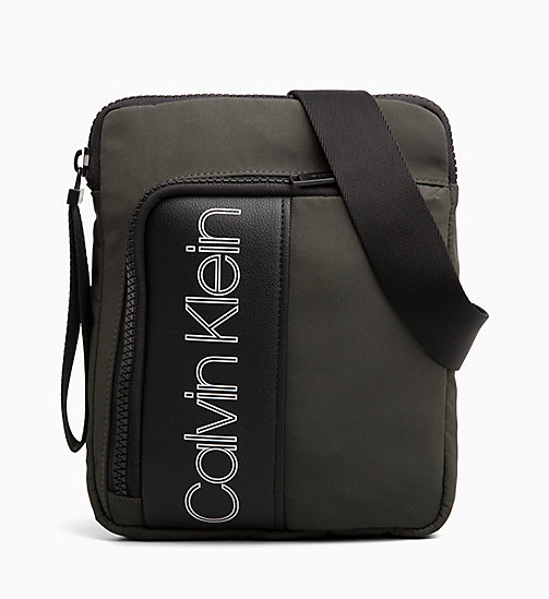 CALVIN KLEIN Flat Cross Body Bag - GREYSTONE - CALVIN KLEIN IN THE THICK OF IT FOR HIM - main image